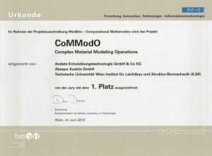 "CoMModO Best FIT-IT Project in ""Modeling & Simulation"""